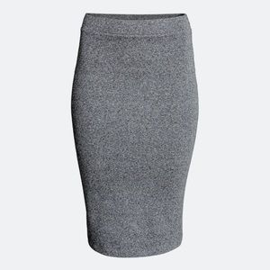 H&M DIVIDED basic gray fitted pencil skirt size S